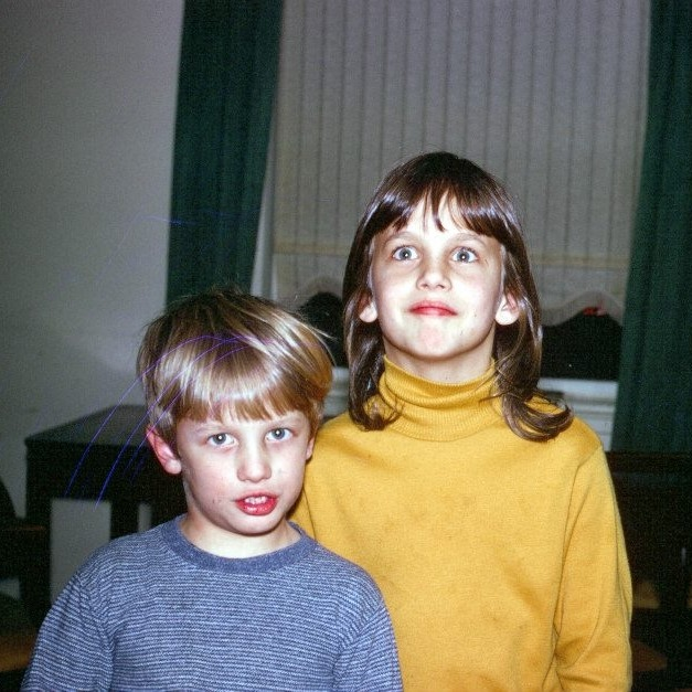 My brother and me